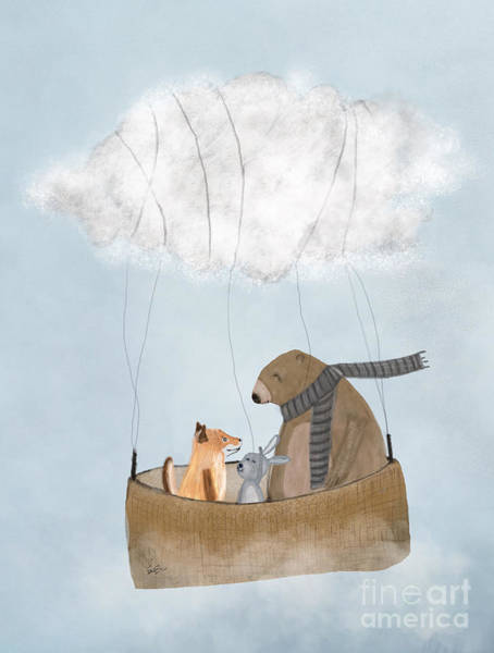 Fox Painting - The Cloud Balloon by Bri Buckley