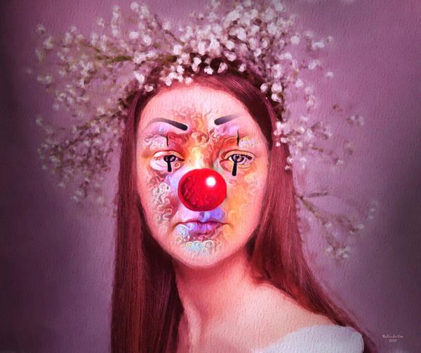 Digital Art - The Clown by Artful Oasis