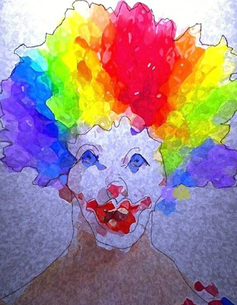 Bad Hair Day Digital Art - The Clown At 10 00 Am by Mimo Krouzian