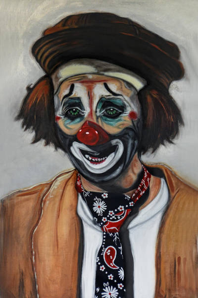 Wall Art - Painting - The Clown by Joachim G Pinkawa