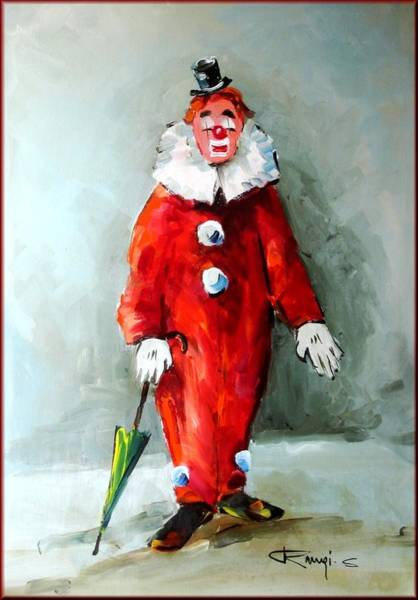 Poppie Painting - The Clown by Rangi Sergio