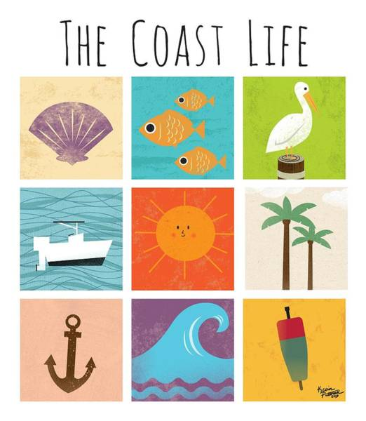 Beach Wall Art - Digital Art - The Coast Life by Kevin Putman