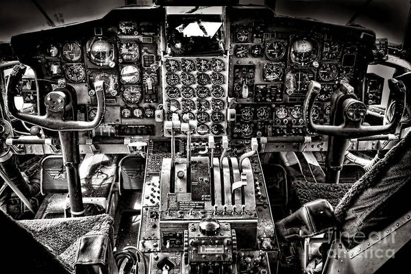 Gauge Photograph - The Cockpit by Olivier Le Queinec