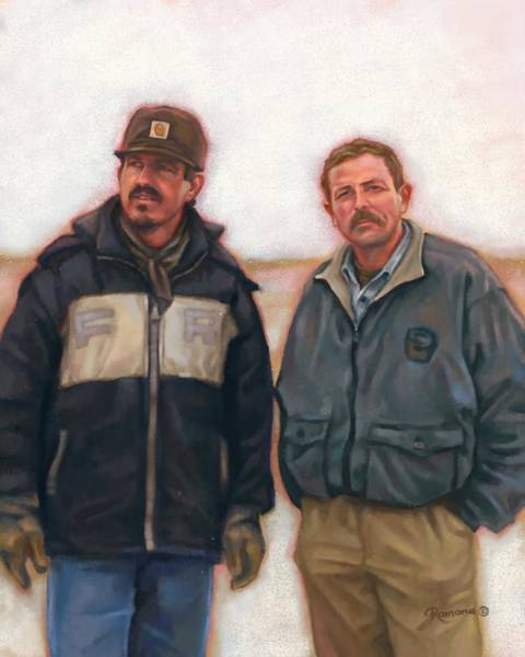 Ranch Digital Art - The Cold by Ramona MacDonald
