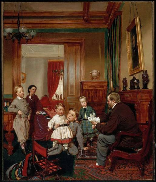 Colgate Wall Art - Painting - The Colgate Family by MotionAge Designs