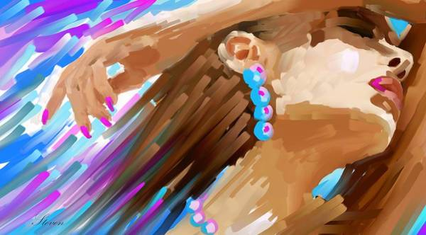 Wall Art - Digital Art - The Color Of Her Heart by Steven Lebron Langston
