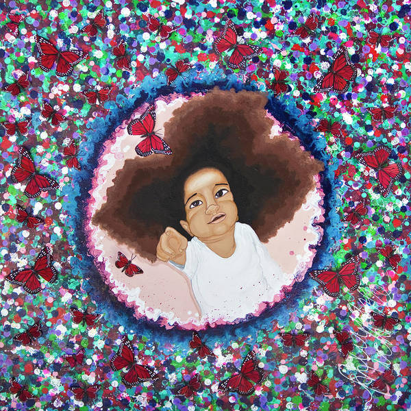 Painting - The Color Purple by Aliya Michelle