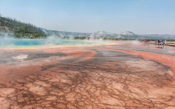 Photograph - The Colorful Grand Prismatic Spring by John M Bailey