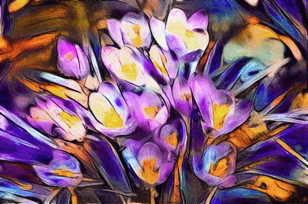 Mixed Media - The Colors Of Crocus by Susan Maxwell Schmidt