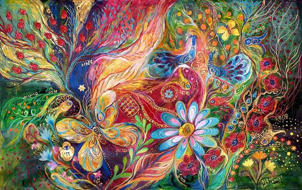 Kabbalistic Wall Art - Painting - The Colors Of Spring. The Original Can Be Purchased Directly From Www.elenakotliarker.com by Elena Kotliarker
