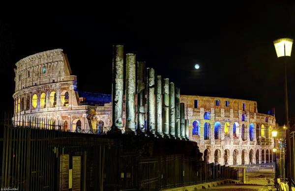 Photograph - The Colosseum At Night by Weston Westmoreland