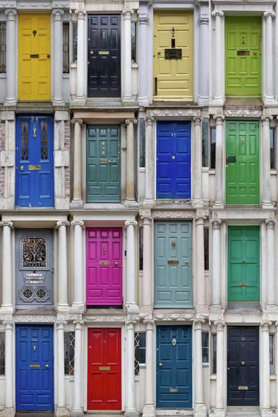 Photograph - The Colourful Doors Of Dublin by Georgia Fowler