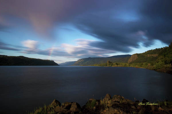 Photograph - The Columbia River Gorge Signed by Hans Franchesco