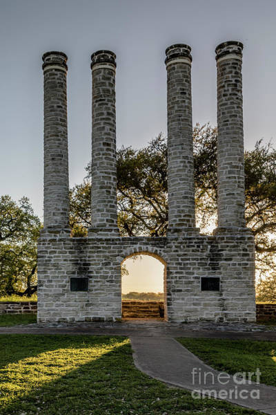 Photograph - The Columns Of Old Baylor University by Teresa Wilson