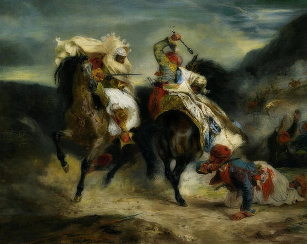Death Valley Painting - The Combat Of The Giaour And Hassan by Eugene Delacroix