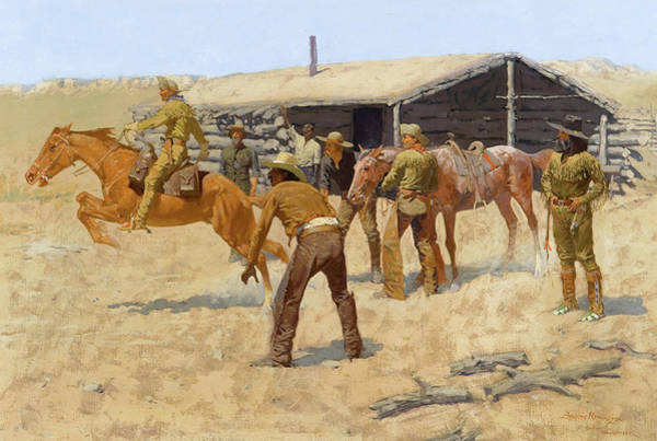 In Motion Painting - The Coming And Going Of The Pony Express by Frederic Remington