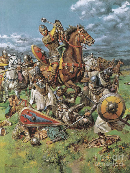 Wall Art - Painting - The Coming Of The Conqueror by Fortunino Matania