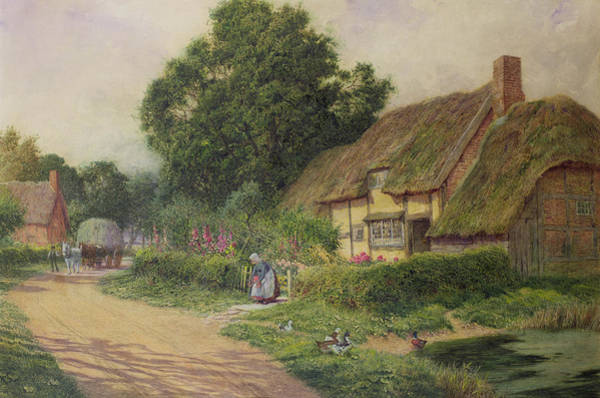Apron Wall Art - Painting - The Coming Of The Haycart  by Arthur Claude Strachan