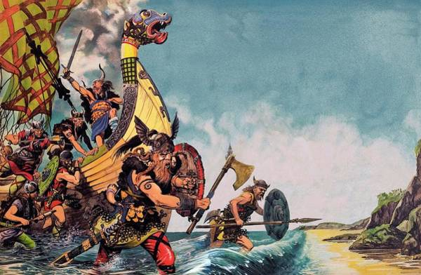 Nordic Painting - The Coming Of The Vikings by Peter Jackson