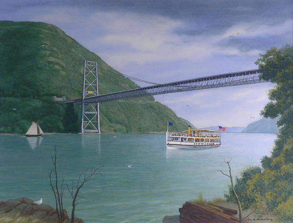 Hudson Valley Wall Art - Painting - The Commander At Bear Mt. Bridge  by Glen Heberling