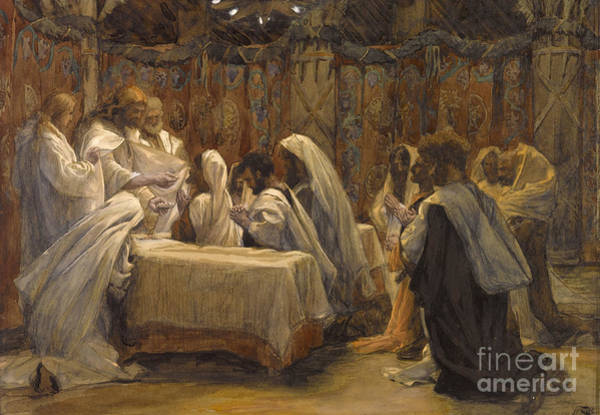 Sacrament Wall Art - Painting - The Communion Of The Apostles by Tissot