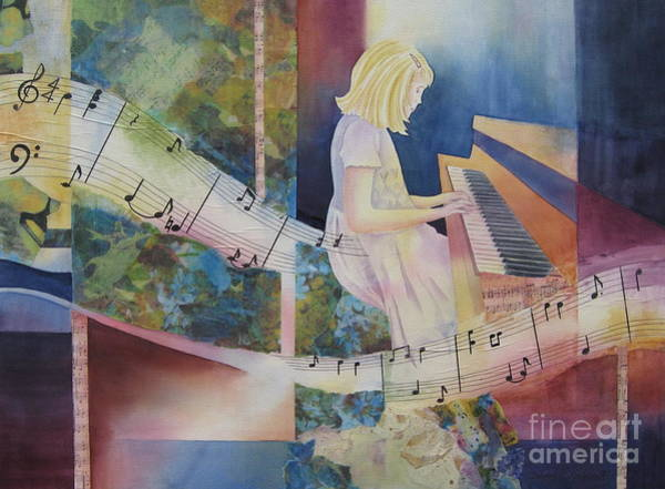 Musical Theme Painting - The Composition by Deborah Ronglien