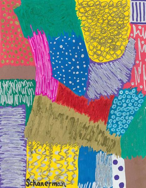 Painting - Dimensionality And Movement by Susan Schanerman