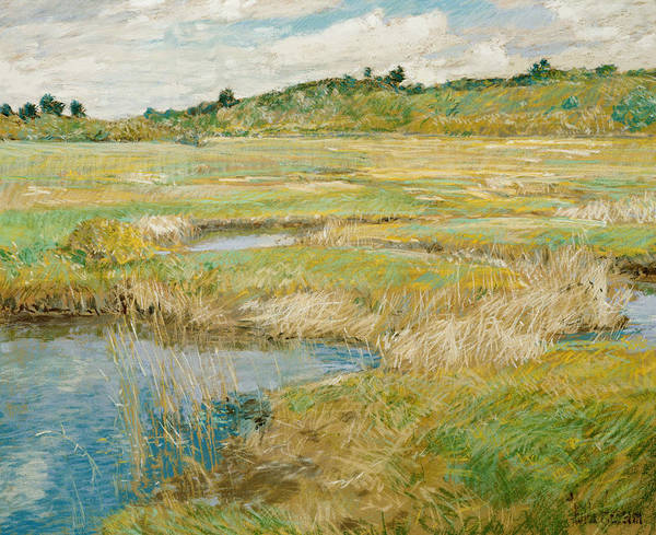Painting - The Concord Meadow by Childe Hassam