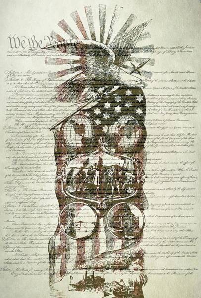 Wall Art - Digital Art - The Constitution Of The United States Of America by Dan Sproul