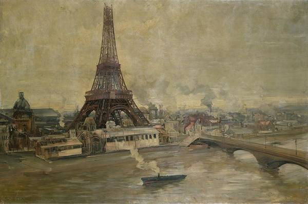 The Construction Of The Eiffel Tower Art Print