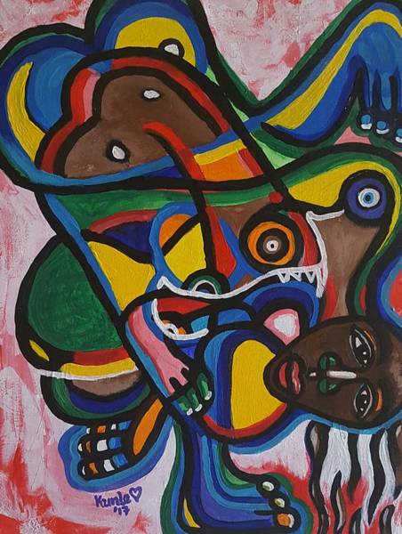 Painting - The Contortionist  by Adekunle Ogunade