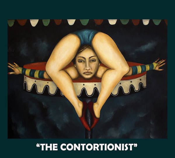 Painting - The Contortionist With Lettering by Leah Saulnier The Painting Maniac