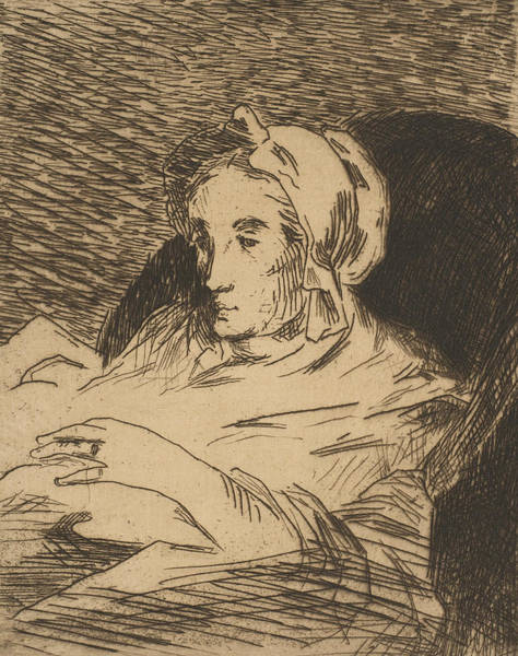 Relief - The Convalescent  by Edouard Manet