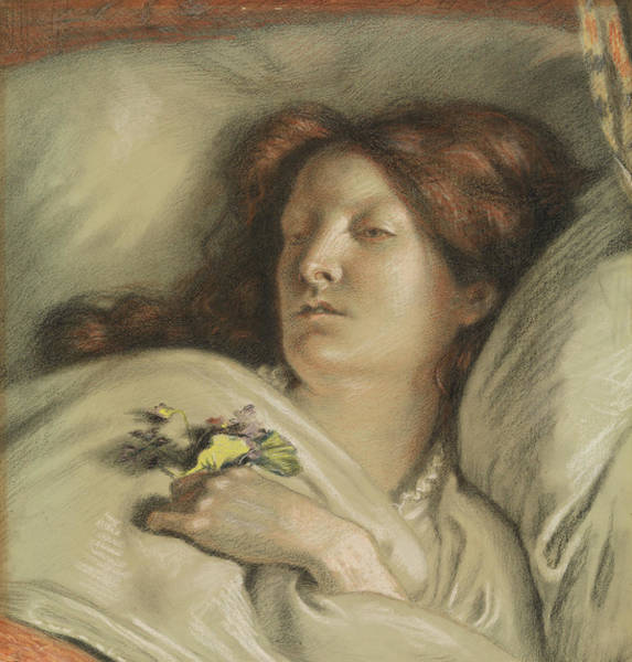 Wall Art - Pastel - The Convalescent by Ford Madox Brown