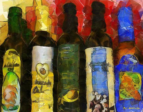Painting - The Cook's Elixirs by RC DeWinter