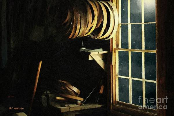 Painting - The Cooperage In Moonlight by RC DeWinter
