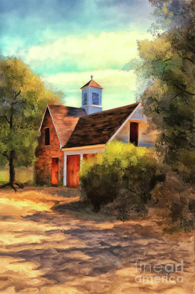 Cupola Digital Art - The Cooper's Shop In The Ludwell-paradise Stables by Lois Bryan