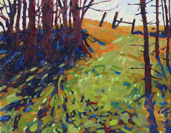 Watershed Painting - The Copse by Phil Chadwick