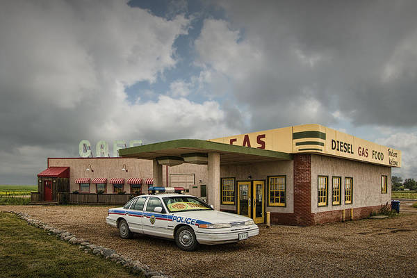Photograph - The Corner Gas Station by Randall Nyhof