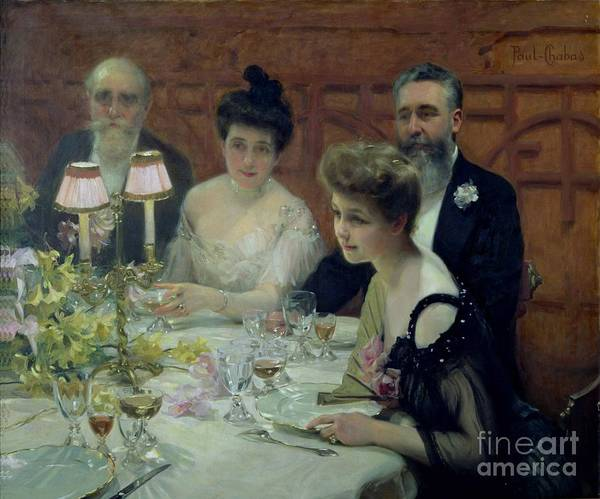Corner Painting - The Corner Of The Table by Paul Chabas