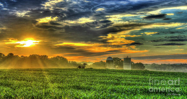Time Magazine Photograph - The Cornfield Dawn The Iron Horse Collection Art  by Reid Callaway