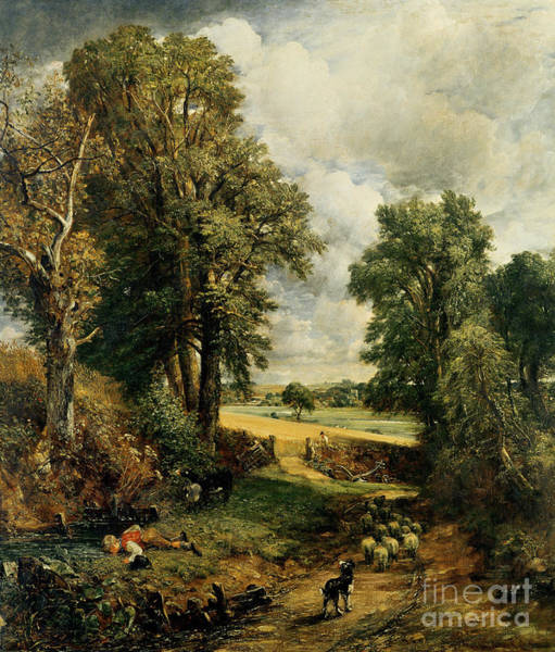 Donkey Painting - The Cornfield by John Constable