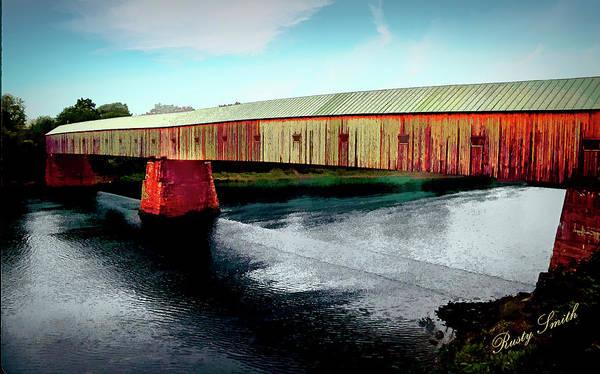 Digital Art - The Cornish-windsor Covered Bridge  by Rusty R Smith