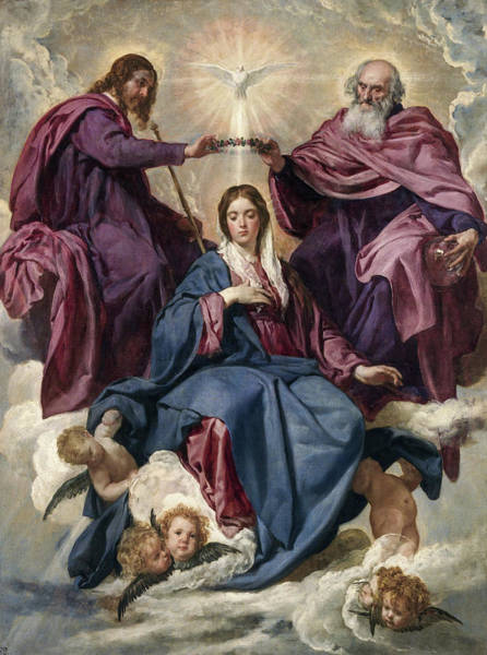 Velazquez Wall Art - Painting - The Coronation Of The Virgin by Diego Velazquez