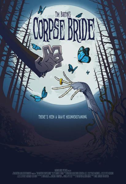 Tim Burton Wall Art - Digital Art - The Corpse Bride Alternative Poster by Christopher Ables