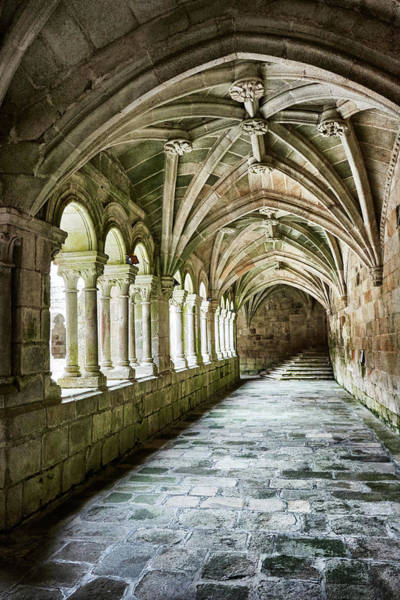 Photograph - The Corridors Of The Monastery by Fine Art Photography Prints By Eduardo Accorinti