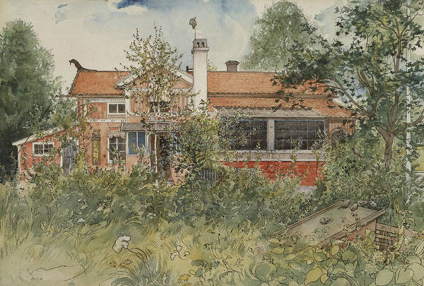Painting - The Cottage. From A Home by Carl Larsson