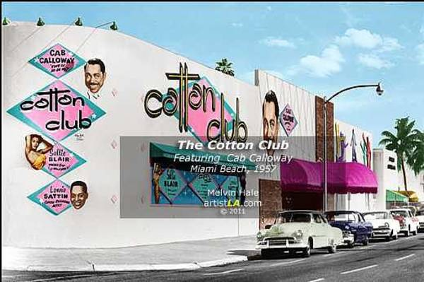 Wall Art - Painting - The Cotton Club - Miami Beach C1957 by Melvin Hale ArtistLA