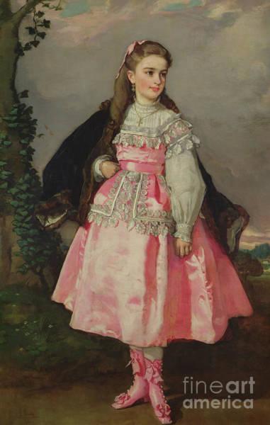 1871 Painting -  The Countess Of Santovenia by Eduardo Rosales