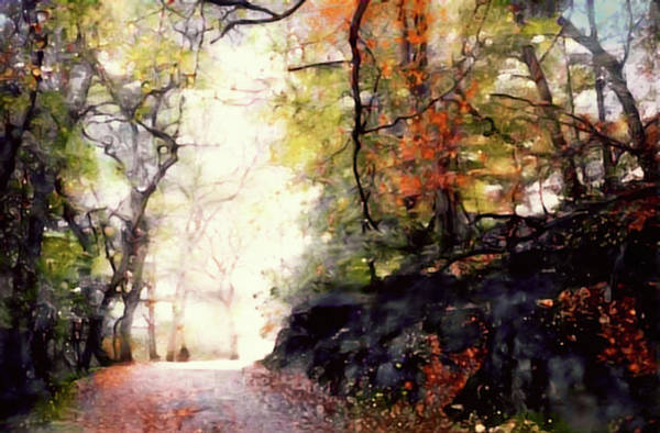 Mixed Media - The Country Road by Susan Maxwell Schmidt